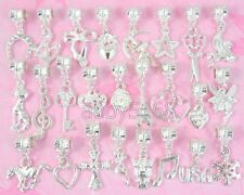 50pcs Silver Plated Bulk Lots Charms Dangle Fit Bracelet NY01