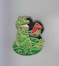 RARE PINS PIN'S .. ANIMAL GRENOUILLE FROG CRAPAUD CPL LIVRE BOOK CULTURE  ~CZ