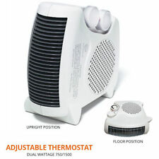Boston Style Portable Space Heater Floor and Upright 3 Fan Speeds & Thermostat