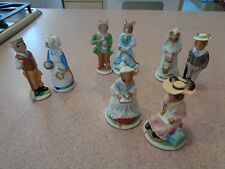 1985 Franklin Mint Woodmouse Family Mouse Figurines - EIGHT in total