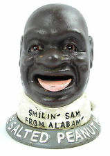 Smilin Sam from Alabama THE SALTED PEANUT MAN Eisenkopf Spardose antik Deko USA