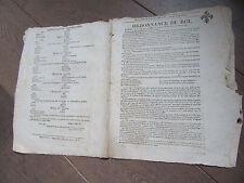 ORDONNANCE DU ROI 26 AOUT  1815