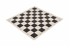 USCF Sales Regulation Vinyl Tournament Chess Board - Black & Buff Vinyl