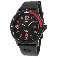 Glycine Men's 3913.99.D9 Combat SUB Swiss Quartz Black Dial Black Rubber Strap
