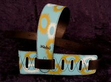 REBEL GUITAR STRAP SUN - BLUE WITH GOLD AND WHITE SUNS for GUITAR or BASS