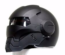 CASCO ELMETTO BLACK PANTHER IRON-MAN MOTORCYCLE HELMET HERO! ABS AUTO NEW: M-XL