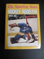 1981-82 THE  SPORTING NEWS NHL HOCKEY REGISTER MIKE LIUT COVER