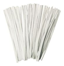 100 White pipe cleaners - stems chenille 30cm Craft *****FREE DELIVERY*****