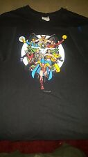 JSA Justice Society of America Golden Age Vintage Graphitti T-Shirt Men's 2XL