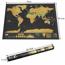 2017 Deluxe Travel Edition Personalized Journal Poster Log Scratch Off World Map