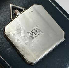 Vintage Art Deco Unusual SLIM SQUARE Cigarette Case Style PHOTO LOCKET Pendant