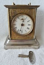Rare Musical Clock Pfeilkreuz German Alarm Carriage Mantel Alarm Clock 1920s