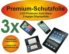 3x Premium-Schutzfolie Matt Amazon Kindle Fire HDX 8.9 - 3-lagig - Antireflex
