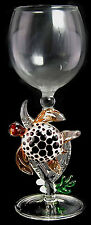 HAND-BLOWN GLASS BY YURANA - TURTL;E ON CORAL - EXQUISITE!  W279