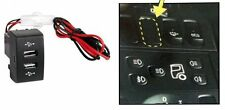 Dashboard Panel Mount Dual Usb Power Socket Charger Led Scania Series R P G OEM