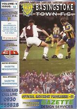 Football Programme - Basingstoke Town v Bournemouth - FA Cup - 14/11/1998