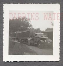 Vintage Photo Proof Man w/ 1950 White Co Semi Truck 734250