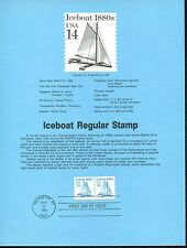 #8515 USPS Souvenir Page, Scott #2143 - $0.14c Iceboat Coil Stamp