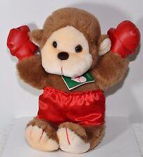 "1986 Plush Baby Monkey Boxer Red Gloves Satin Pant Calderon Loving Touch Tag 15"""