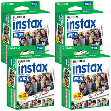 Fuji Instax Wide Instant Color Print Film 4x Twin Pack (80 shots) / Exp 09/2017