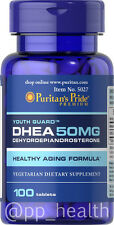 Puritan's Pride DHEA 50mg 100 Tablets Building Muscle Burning Fat MADE IN USA