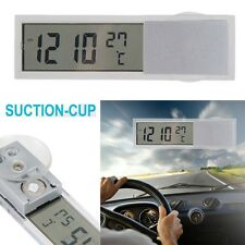 2in1 Car Auto Digital Backlight LCD Clock Thermometer Monitor with Suction Cup B