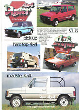 Dacia Duster 4x4 & ShifterPick up 1986-87 Original UK Sales Brochure