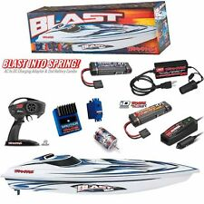 Traxxas Blast Electric Race Boat Combo w/ TQ / 2X Battery / Charger / Adapter