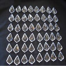 48 Pcs 38MM Clear Prisms Chandelier Lead Maple Leaf Crystal