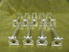 beautiful french silverplate knife rests 9 Christofle volutes - lyre