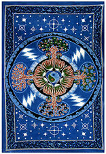 """FOUR SEASONS / TREE OF LIFE Tapestry/Wall Hanging/Bedspread 54""""X86"""""""