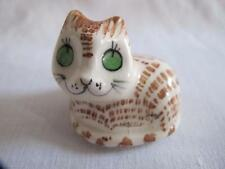 VINTAGE 1980's PHILIP LAURESTON BABBACOMBE GLAZED POTTERY FIGURE - STYLIZED CAT
