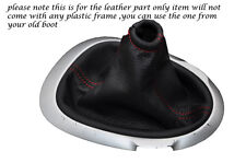 RED STITCHING FITS NISSAN JUKE 2010-2013+ LEATHER GEAR GAITER ONLY