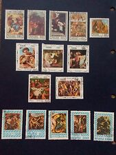 Panama stamps - religios paintings stamps - used- 1965-1966 x15