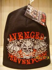 AVENGED SEVENFOLD Skull Embroidered Beanie Hat Snow Winter Ski Cap 100% Acrylic