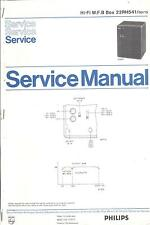Philips Service Manual für MFB-Box 22 RH 541  .