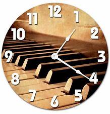 """PIANO KEYS Clock - Large 10.5"""" Wall Clock - 2036"""