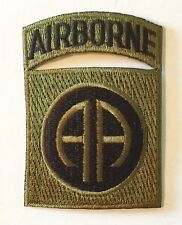 82nd AIRBORNE SSI SHOULDER SLEEVE INSIGNIA PATCH US ARMY MILITARY SUBDUED GREEN