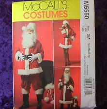 McCall's M5550 Adult Unisex CHRISTMAS Santa Coat Pants Hat Belt Boots Bag S-M-L