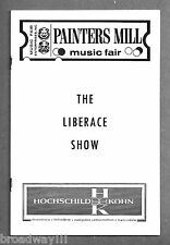LIBERACE (Behind the Candelabra) Live on Stage / Gale Sherwood 1968 Playbill