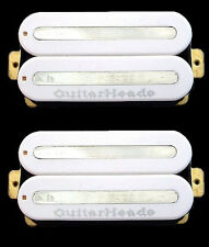 Guitar Parts GUITARHEADS PICKUPS MEGAMETAL HUMBUCKER - Bridge Neck SET 2 - WHITE