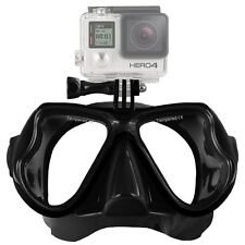 GOPRO HERO 5 4 3+ 3 2 DIVE MASK SCUBA DIVING SNORKEL TEMPERED GLASS SESSION