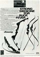 1974 Print Ad Browning Compound & Folding Hunter Explorer & Cobra Bow