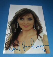 CAROL VORDERMAN GENUINE HAND SIGNED AUTOGRAPH 6x4 PHOTO CARD COUNTDOWN + COA