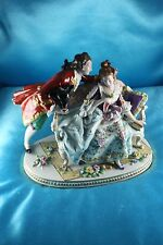 Antique German Porcelain Sitzendorf Dresden Couple Figurine ♡ Centerpiece