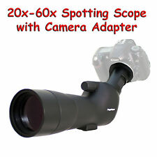 20-60x 60a 2000mm 6000mm Spotting Telescope for Nikon D810 D4s D3300 Digiscoping