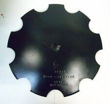 """18"""" Notched Disc 1"""" or 1 1/8"""" Square Shaft Harrow Bearing Cutting Blade"""