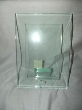 """SixTrees Glass Picture Frame 4"""" x 6"""" Photos Moda (Clear) 8.25"""" H x 6"""" W x 2"""" D"""