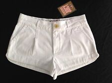 NWT Genuine Juicy Couture Ladies New Small UK Size 8 U.S. 4 White Cotton Shorts
