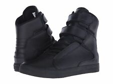NEW SUPRA SOCIETY II BLACK BLACK RED SKATEBOARDING SHOES SIZE USA 9.5